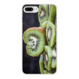 """Чехол для iPhone 7 Plus, объёмная печать """"Лето!"""" - лето, клубника, киви, пляжный сезон, сочный киви"""