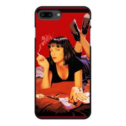 "Чехол для iPhone 7 Plus, объёмная печать ""Pulp Fiction (Ума Турман)"" - mia, культовое кино, тарантино, криминальное чтиво, ума турман"