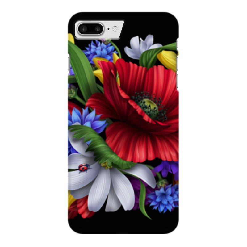 Чехол для iPhone 7 Plus глянцевый Printio Композиция цветов композиция из цветов и конфет