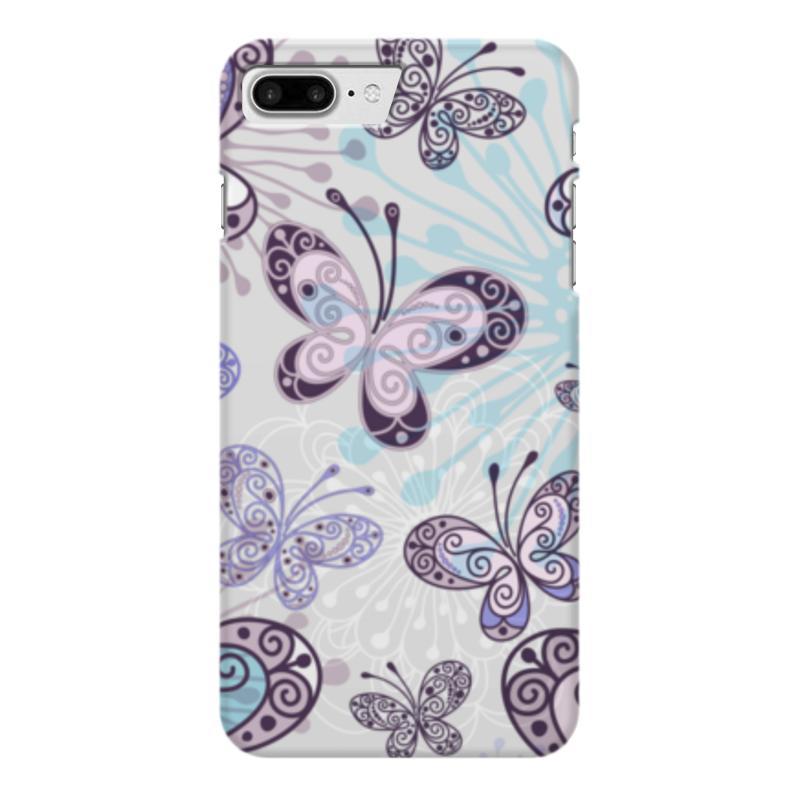 Чехол для iPhone 7 Plus глянцевый Printio Фиолетовые бабочки какой iphone лучше для россии