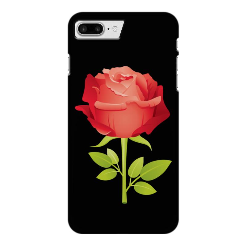 Чехол для iPhone 7 Plus глянцевый Printio Розочка чехол для iphone 5 с подставкой с полной запечаткой printio розочка