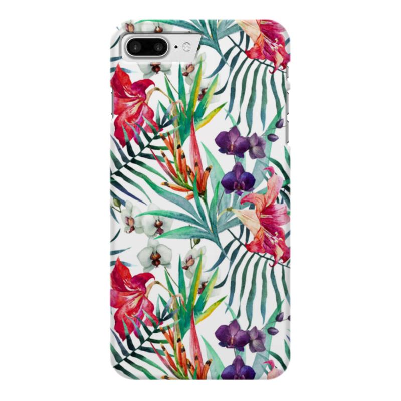 Чехол для iPhone 7 Plus глянцевый Printio Тропические цветы
