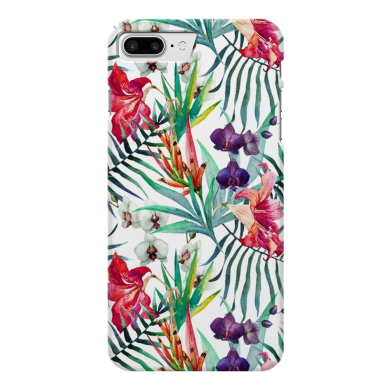 Чехол для iPhone 7 Plus глянцевый Printio Тропические цветы чехол для iphone 7 глянцевый printio horror art