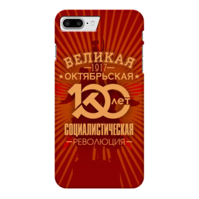 Чехол для iPhone 7 Plus глянцевый Printio Октябрьская революция коврик для мышки printio октябрьская революция