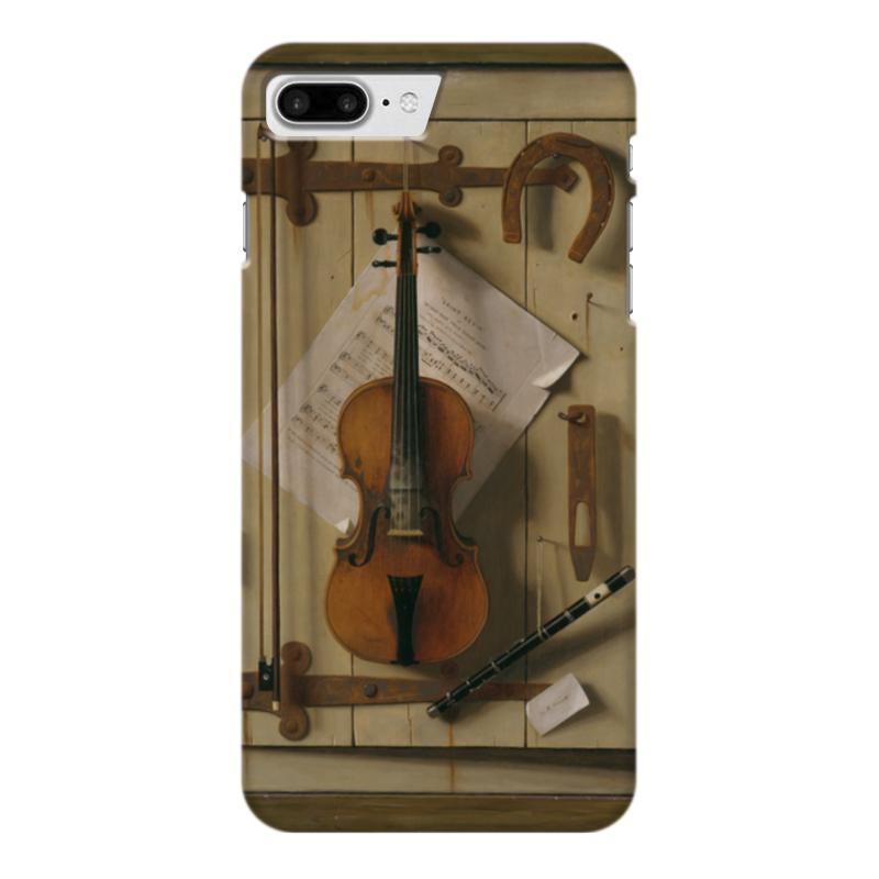 Чехол для iPhone 7 Plus глянцевый Printio Натюрморт со скрипкой (уильям харнетт) чехол для samsung galaxy s5 printio натюрморт со скрипкой уильям харнетт