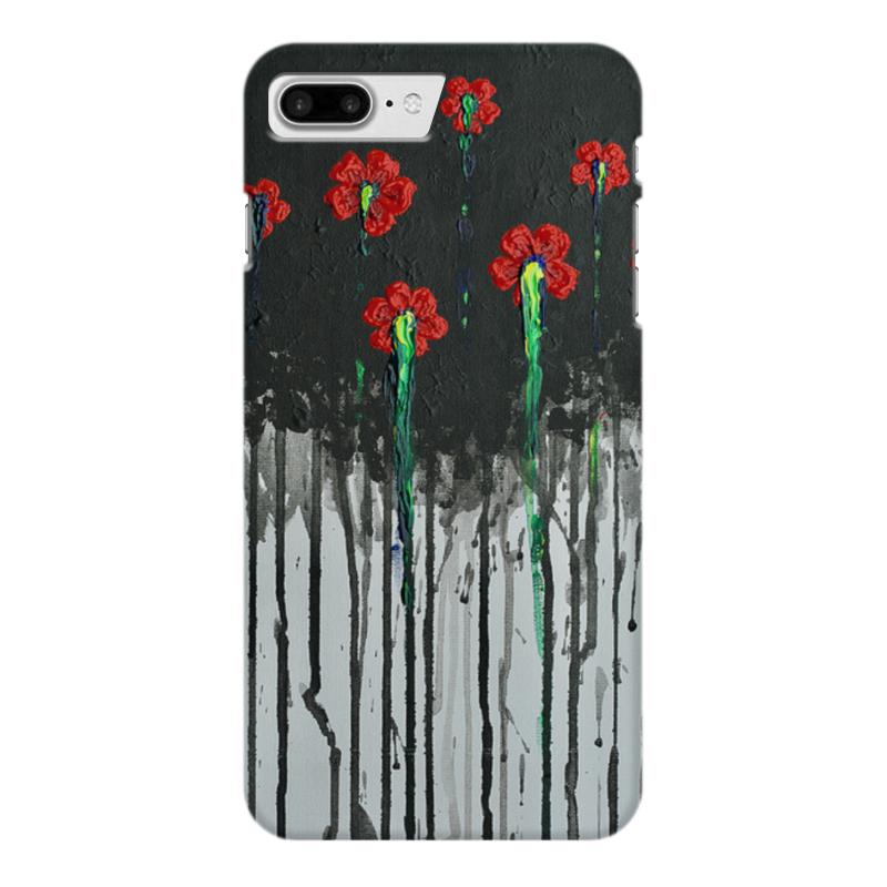 Чехол для iPhone 7 Plus глянцевый Printio Красные маки