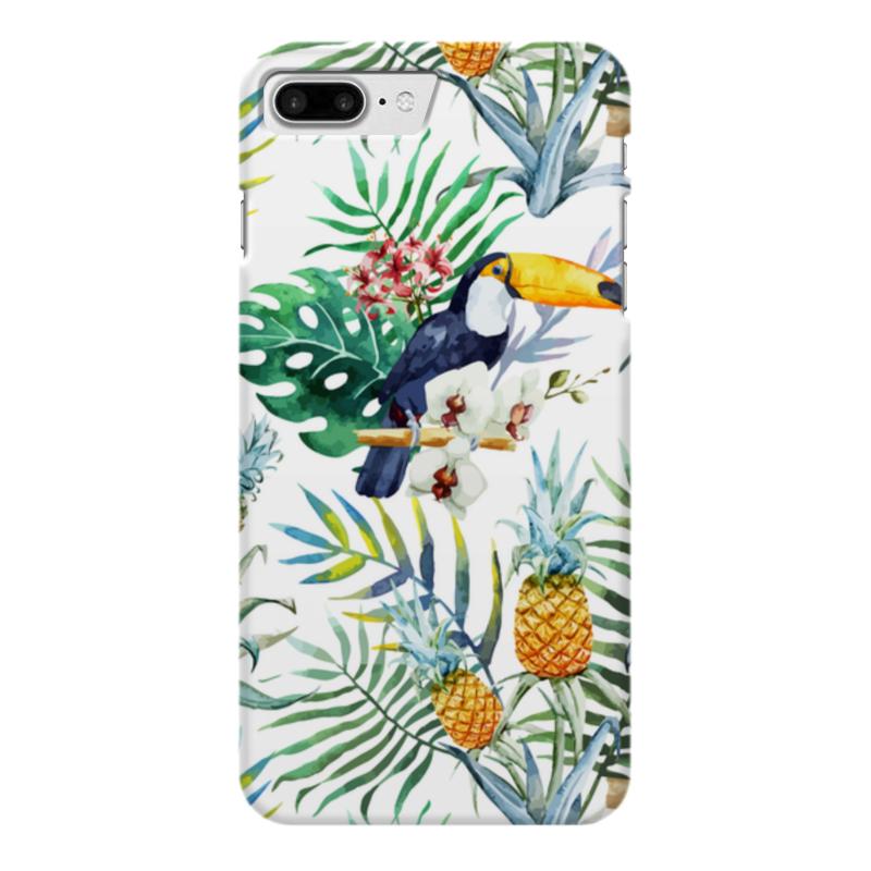 Чехол для iPhone 7 Plus глянцевый Printio Тропические птицы чехол для iphone 7 глянцевый printio альтрон мстители