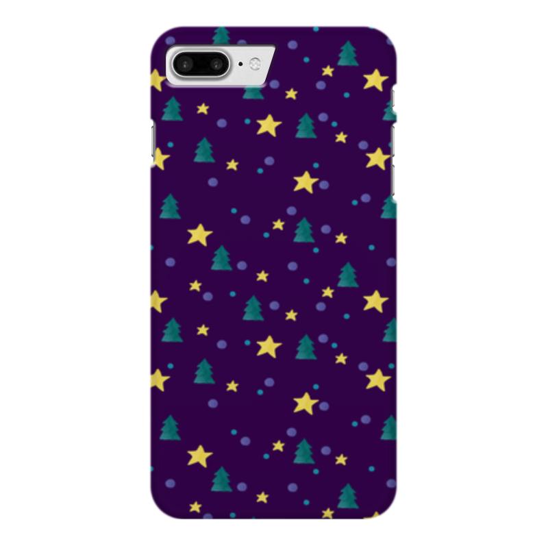 Чехол для iPhone 7 Plus глянцевый Printio Елки и звезды нашествие дни и ночи