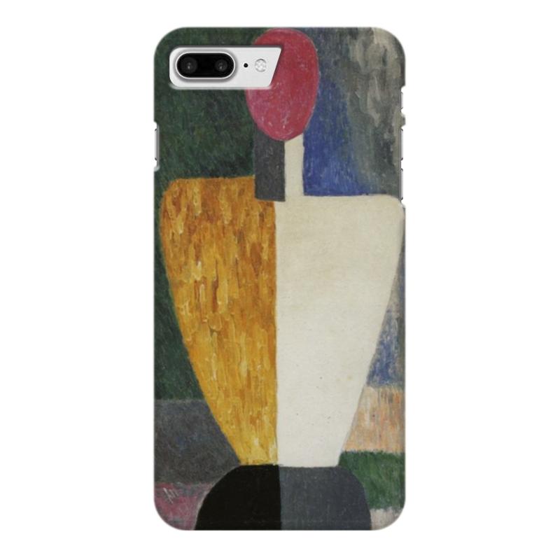 Чехол для iPhone 7 Plus глянцевый Printio Торс (фигура с розовым лицом) (малевич) чехол для samsung galaxy s5 printio торс фигура с розовым лицом малевич