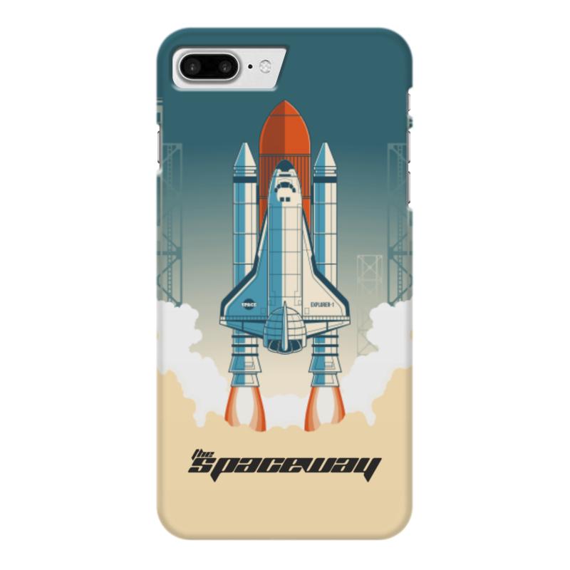 Чехол для iPhone 7 Plus глянцевый Printio Покорение космоса чехол для iphone 7 глянцевый printio первый полет в космос космонавта юрия гагарина