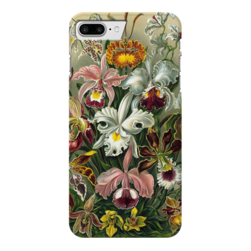 Чехол для iPhone 7 Plus глянцевый Printio Орхидеи (orchideae, ernst haeckel) самые дешевые орхидеи в москве
