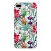 """Чехол для iPhone 7 Plus глянцевый """"Тропические цветы"""" - милый, лето, пальма, орхидея, женственно"""