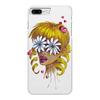 """Чехол для iPhone 7 Plus глянцевый """"Без ума от цветов"""" - любовь, девушка, цветы, сердца, блондинка"""
