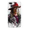 """Чехол для iPhone 7 Plus глянцевый """"Человек в шляпе"""" - человек, шляпа, очки, куртка, арт"""