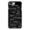 "Чехол для iPhone 7 Plus глянцевый ""Манта для настоящих мужчин (черный вариант)"" - праздник, мужчина, подарок, пожелания, мантра"