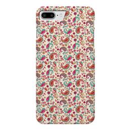 """Чехол для iPhone 7 Plus глянцевый """"Пейсли (Яркий)"""" - узор, лепесток, цветок, цветы, пейсли"""