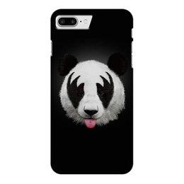 """Чехол для iPhone 7 Plus глянцевый """"Панда """" - панда, животные, мишка, медведь, фотография"""