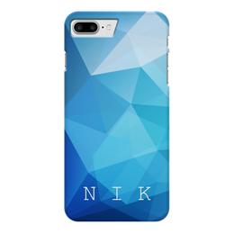 """Чехол для iPhone 7 Plus глянцевый """"Монограмма"""" - подарок, персональный, монограмма, имя"""