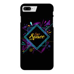 """Чехол для iPhone 7 Plus глянцевый """"Love Space"""" - звезды, космос, вселенная"""