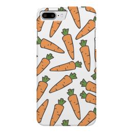 """Чехол для iPhone 7 Plus глянцевый """"Морковки"""" - морковь, овощи, лето, здоровье, веган"""