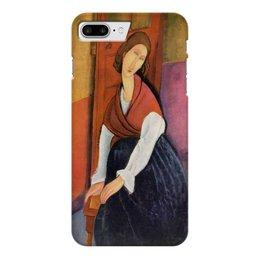 "Чехол для iPhone 7 Plus глянцевый ""Жанна Эбютерн (Амедео Модильяни)"" - арт, оно, модильяни, живопись, картина"