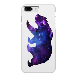 "Чехол для iPhone 7 Plus глянцевый ""Space animals"" - space, bear, медведь, космос, астрономия"