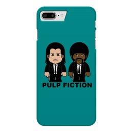 """Чехол для iPhone 7 Plus глянцевый """"Pulp Fiction"""" - культовое кино, тарантино, джон траволта, сэмюэл лерой джексон, криминальное чтиво"""