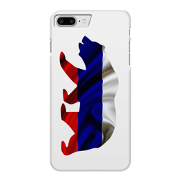 """Чехол для iPhone 7 Plus глянцевый """"Русский Медведь"""" - bear, медведь, русский, флаг, russian"""
