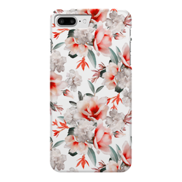 """Чехол для iPhone 7 Plus глянцевый """"Цветы"""" - цветы"""