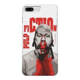"""Чехол для iPhone 7 Plus глянцевый """"Pulp Fiction (Брюс Уиллис)"""" - pulp fiction, культовое кино, брюс уиллис, тарантино, криминальное чтиво"""