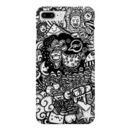 """Чехол для iPhone 7 Plus глянцевый """"Иллюстрация"""" - баран, козел, звезда, ананас, люди"""