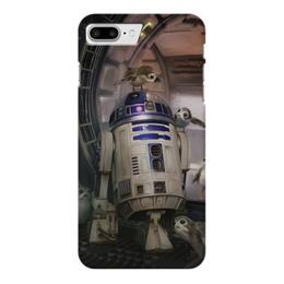 "Чехол для iPhone 7 Plus глянцевый ""Звездные войны - R2-D2"" - звездные войны, фантастика, кино, дарт вейдер, star wars"
