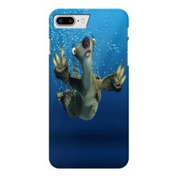 """Чехол для iPhone 7 Plus глянцевый """"Ледниковый период (Сид под водой)"""" - ice age, ленивец, сид, ледниковый период, мультфильм"""