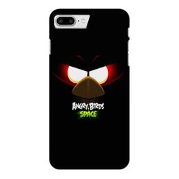 """Чехол для iPhone 7 Plus глянцевый """"Space (Angry Birds)"""" - space, игра, мультфильм, птица, angry birds"""