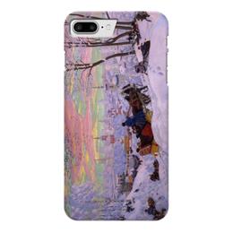 """Чехол для iPhone 7 Plus глянцевый """"Масленица (Кустодиев)"""" - картина, кустодиев"""