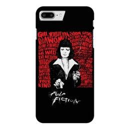 "Чехол для iPhone 7 Plus глянцевый ""Pulp Fiction (Ума Турман)"" - mia, культовое кино, тарантино, ума турман, криминальное чтиво"