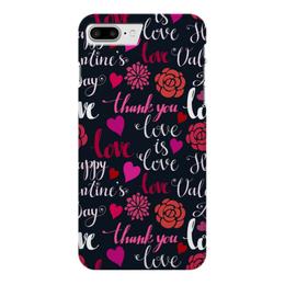 """Чехол для iPhone 7 Plus глянцевый """"День Св. Валентина"""" - день св валентина, валентинка, сердца, любовь"""