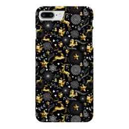 """Чехол для iPhone 7 Plus глянцевый """"Олени"""" - новый год, олени"""