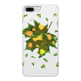 """Чехол для iPhone 7 Plus глянцевый """"Осень близко..."""" - осень, жёлтые листья, autumn"""