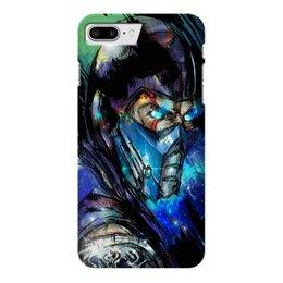 """Чехол для iPhone 7 Plus глянцевый """"Mortal Kombat X (Sub-Zero)"""" - mortal kombat, sub-zero, воин, боец"""
