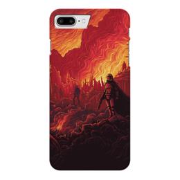 "Чехол для iPhone 7 Plus глянцевый ""Звездные войны"" - звездные войны, фантастика, кино, дарт вейдер, star wars"
