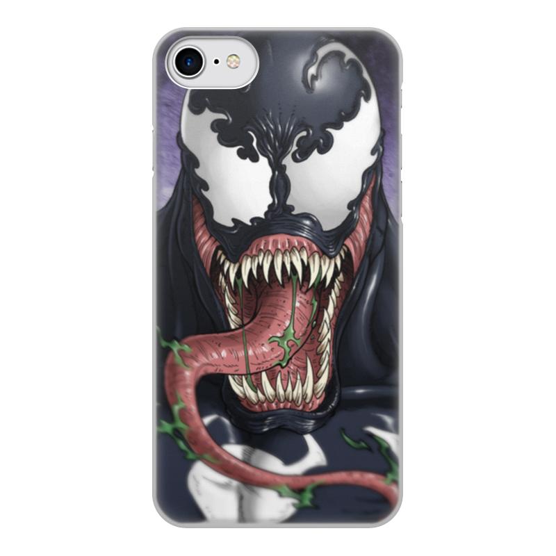 Фото - Чехол для iPhone 8, объёмная печать Printio Веном (venom) чехол для iphone 5 глянцевый с полной запечаткой printio deadpool vs punisher