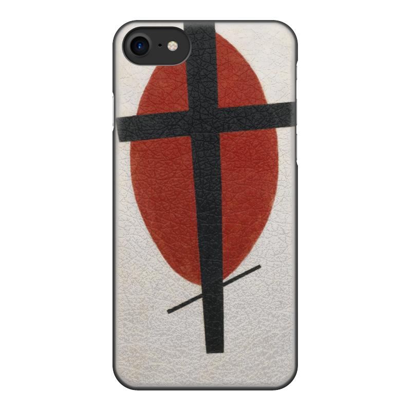 Чехол для iPhone 8, объёмная печать Printio Супрематизм (черный крест на красном овале) ожерелье овале
