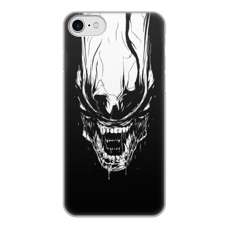 Чехол для iPhone 8, объёмная печать Printio Xenoblack
