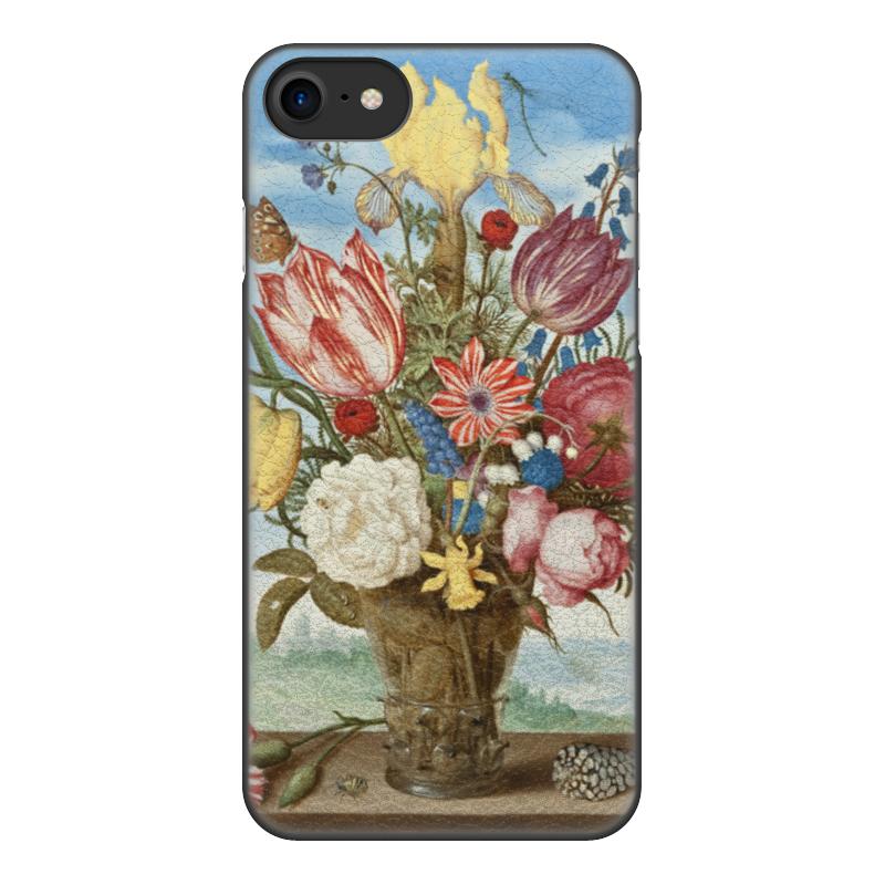 Чехол для iPhone 8, объёмная печать Printio Букет цветов на полке (амброзиус босхарт) амброзиус босхарт