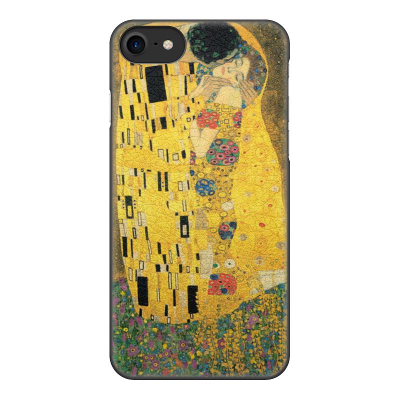 Чехол для iPhone 8, объёмная печать Printio Поцелуй (картина климта) чехол для iphone 6 глянцевый printio поцелуй музы