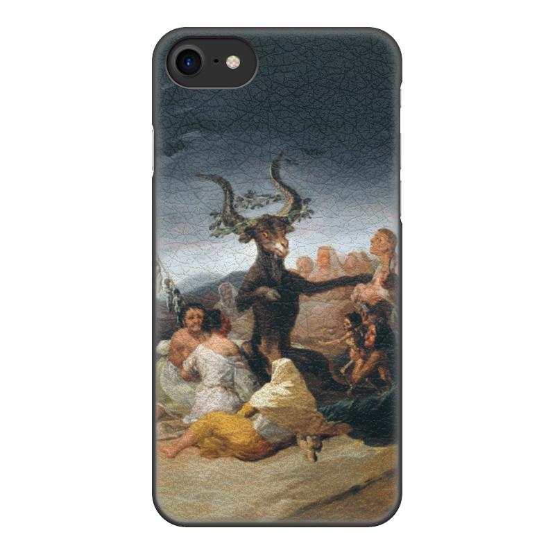 Чехол для iPhone 8, объёмная печать Printio Шабаш ведьм (франсиско гойя) цена