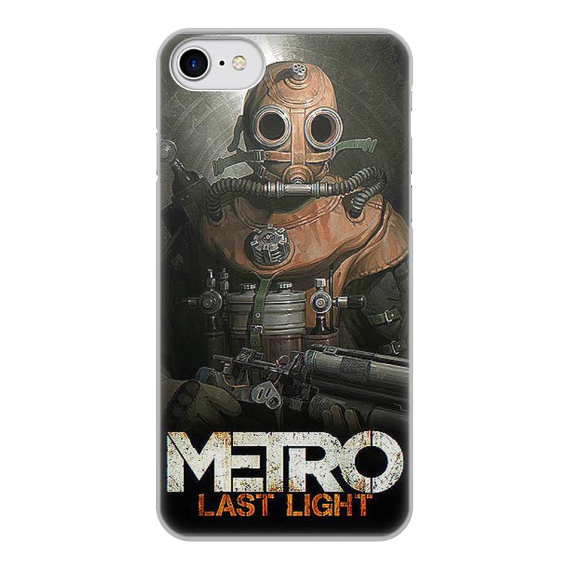 лучшая цена Чехол для iPhone 8, объёмная печать Printio Метро 2033. видеоигры