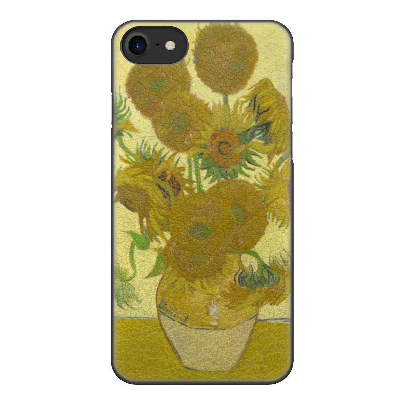 Чехол для iPhone 8, объёмная печать Printio Подсолнухи (винсент ван гог) цена и фото