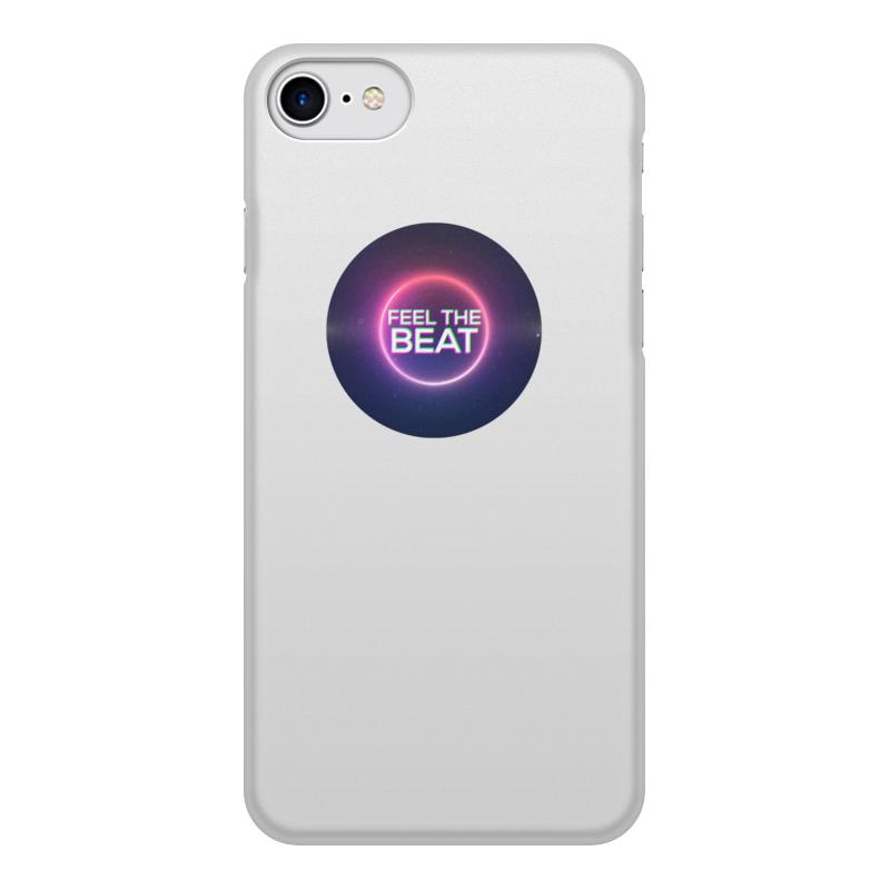 Чехол для iPhone 8, объёмная печать Printio Feel the beat touch and feel dinosaur touch
